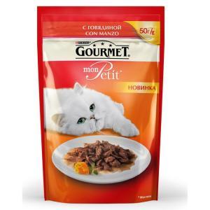 Корм для кошек Gourmet Mon Petit, 50 г, говядина