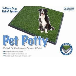 Большой туалет для собак и щенков Pet Potty Big, размер 76х51х3см.