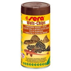 Корм для лорикариевых сомов Sera Wels Chips, 110 г, 250 мл