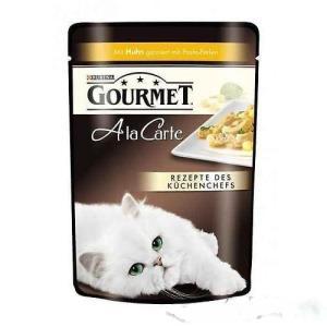 Влажный корм для кошек Gourmet A la Carte, 85 г, Курица с Пастой и Шпинатом