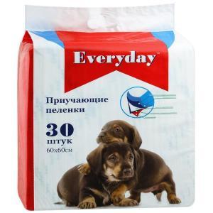 Приучающие пеленки для собак EveryDay, размер 60х60см., 30 шт.