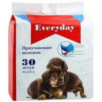 Фотография товара Приучающие пеленки для собак EveryDay, размер 60х60см., 30шт.