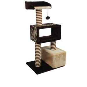 Домик-когтеточка для кошек Triol, размер 45х36х103.5см.