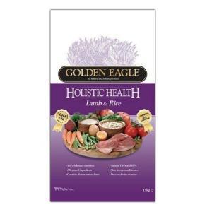 Корм для собак Golden Eagle Holistic Lamb & Rice 22/15, 12 кг, ягненок