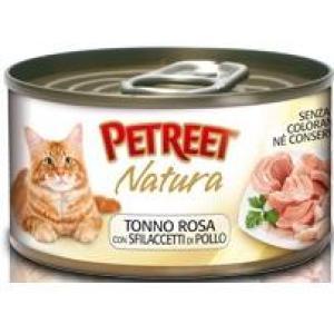 Консервы для кошек Petreet Natura, 70 г, куриная грудка с тунцом