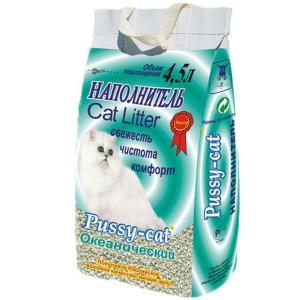 Наполнитель для кошачьего туалета Pussy-cat, 2.5 кг, 4.5 л