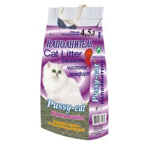 Наполнитель для кошачьего туалета Pussy-cat, 2.5 кг