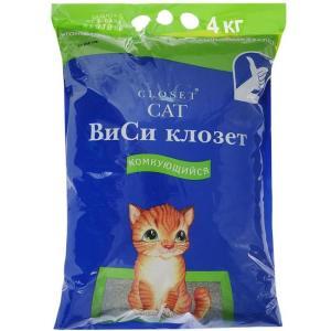 Наполнитель для кошачьего туалета Wc Closet, 4.5 кг, 12 л
