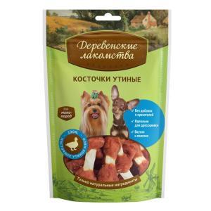 Лакомство для маленьких собак Деревенские лакомства, 55 г, утка