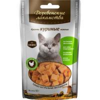 Фотография товара Лакомство для кошек Деревенские лакомства, нежные куриные кусочки