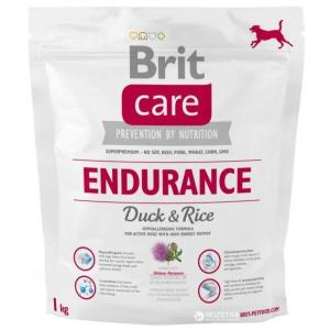 Корм для собак Brit Endurance, 1 кг, утка с рисом