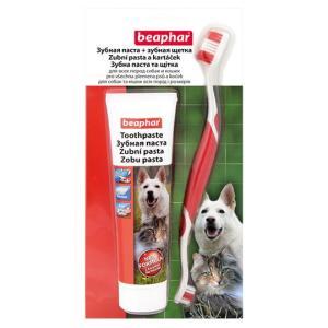 Зубная паста + щетка для собак и кошек Beaphar Toothpaste