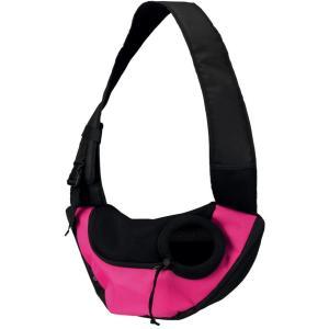 Переноска для собак Trixie Sling, размер 50×25×18см., розовый / чёрный