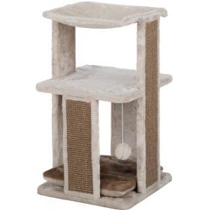 Домик для кошек Trixie Eugen, размер 38x38x67см., светло-серо-бежевый / коричневый