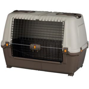 Переноска для собак и кошек Trixie Skudo Car 100 M, размер 100×68×60см., серо-коричневый / песочный