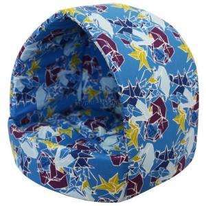 Домик для собак и кошек Zooexpress Эстрада Оригами №2, размер 42х36х36см., лазурный