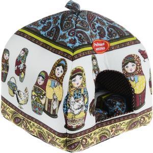 Домик для собак и кошек Родные Места Матрешки, размер 39х39х48см.