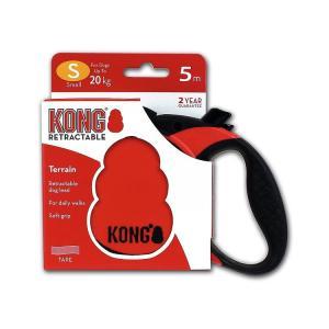 Поводок-рулетка для собак Kong TERRAIN S, красный