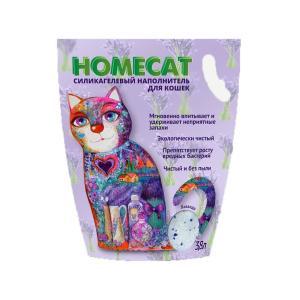 Наполнитель для кошачьих туалетов Homecat Лаванда, 3.5 кг