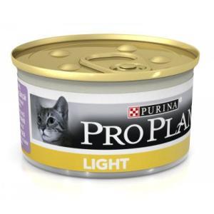 Корм для кошек Pro Plan Light, 85 г, индейка