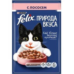Корм для кошек Felix Природа Вкуса, 85 г, лосось