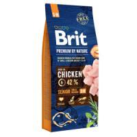 Фотография товара Корм для собак Brit Premium by Nature Senior S/M, 15 кг, курица