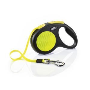 Поводок-рулетка для собак Flexi Neon Safety Plus M