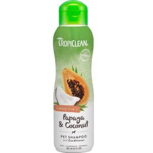 Шампунь-кондиционер для собак и кошек Tropiclean Papaya & Coconut, папайя