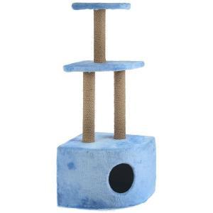 Домик-когтеточка для кошек Зоомарк, размер 35х35х112см., цвета в ассортименте