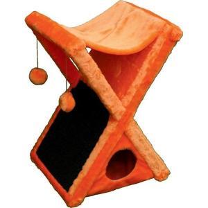 Домик-когтеточка для кошек Зоомарк ИКС, размер 40х40х75см., цвета в ассортименте