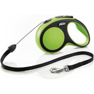 Поводок-рулетка для собак Flexi New Comfort S Cord, зеленый