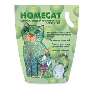 Наполнитель для кошачьего туалета Homecat Яблоко, 1.8 кг, 3.8 л