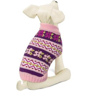 Свитер для собак Triol Цветочки XXL, размер 45см.