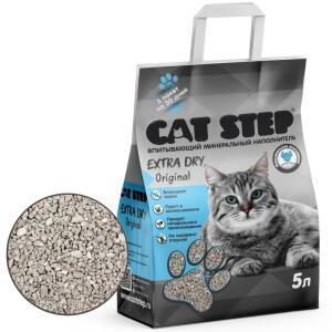 Наполнитель для кошачьего туалета Cat Step Extra Dry Original, 4.2 кг, 5 л