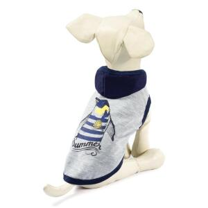 Футболка для собак Triol Пингвин XS, размер 20см., бежево-серый