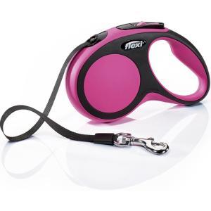 Поводок-рулетка для собак Flexi New Comfort S Tape, розовый