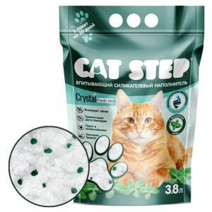 Наполнитель для кошачьего туалета Cat Step Fresh Mint, 1.81 кг, 3.8 л