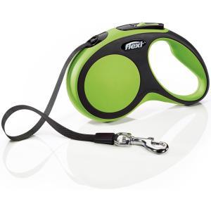 Поводок-рулетка для собак Flexi New Comfort S Tape, зеленый