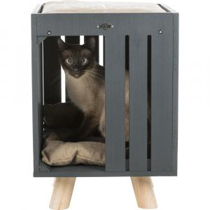 Домик-когтеточка для кошек Trixie BE NORDIC Alva, размер 36х51х36см., песочный