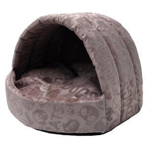 Домик для собак и кошек Homepet Велюр S, размер 38х35х27см., розовый