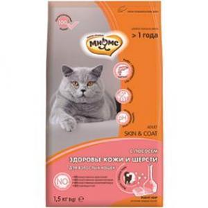 Корм для кошек Мнямс Skin&Coat , 1.5 кг, лосось