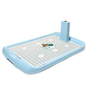 Туалет со столбиком для собак Triol M, размер 60х40х4см., голубой