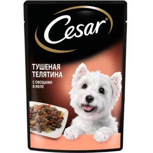 Корм для собак Cesar, 85 г, тушеная телятина с овощами