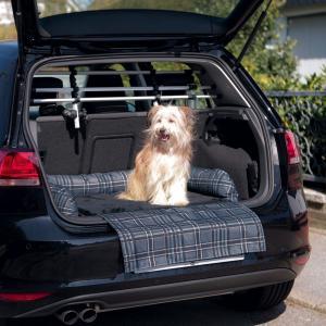 Чехол для багажника Trixie Car Bed, размер 80x60см., серый/черный