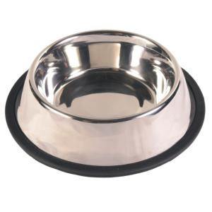 Миска для собак Trixie Stainless Steel Bowl M, размер 17см.