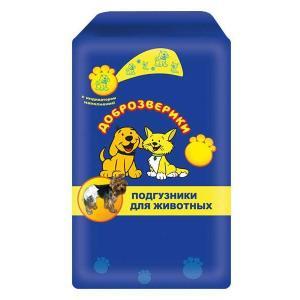 Подгузники для собак Пелигрин Доброзверики XL, 9 шт.
