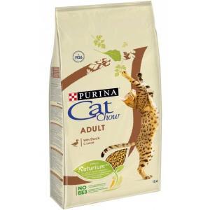 Корм для кошек Purina Cat Chow Adult, 15 кг, утка