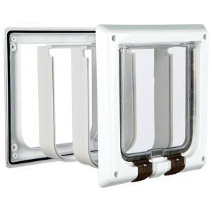 Дверца для кошек Trixie 4-Way Cat Flap, размер 21х21см., белый