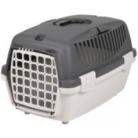 Фотография товара Бокс-переноска для собак и кошек Trixie Capri 1, размер 1, размер 32х31х48см., светло-серый / темно-серый