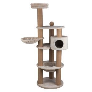 Домик-когтеточка для кошек Trixie Nigella, размер 60х177см., светло-серый